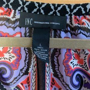 INC International Concepts Tops - INC Brand Purple Paisley Sheer Blouse Bell Sleeve